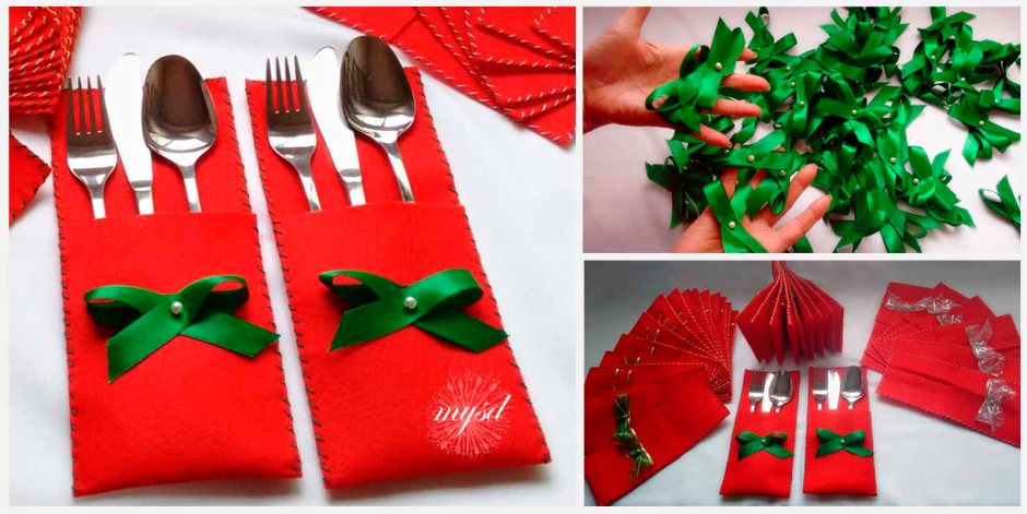 Christmas cutlery holders